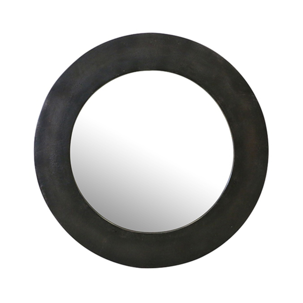 Mirror Round Bronze Finish