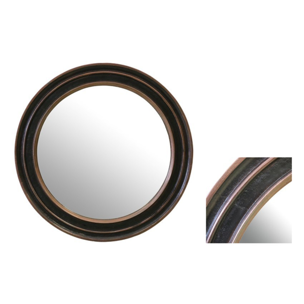 Round Mirror Copper Finish