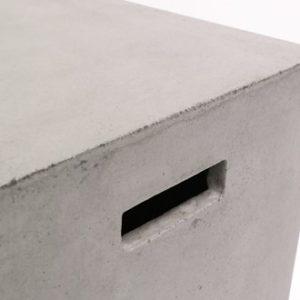 Concrete rectangle stool 46cm
