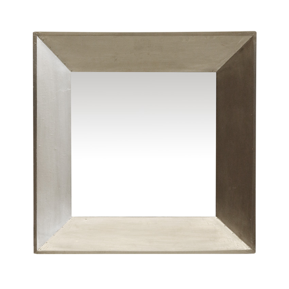 Brass Wrapped Wooden Mirror