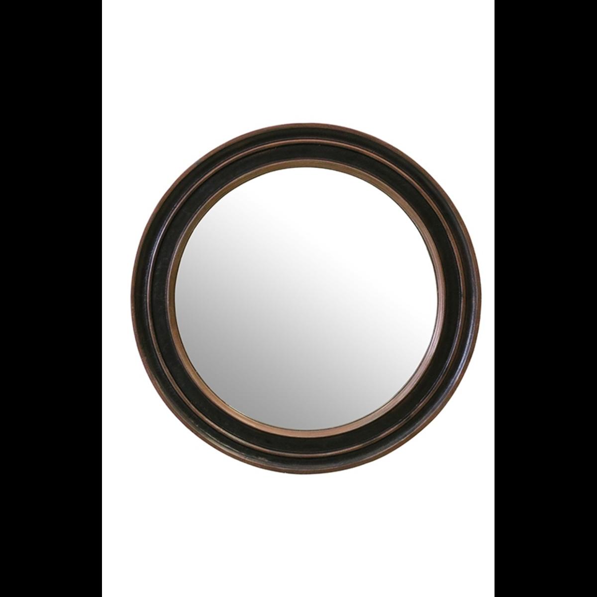 Round Mirror Copper Finish
