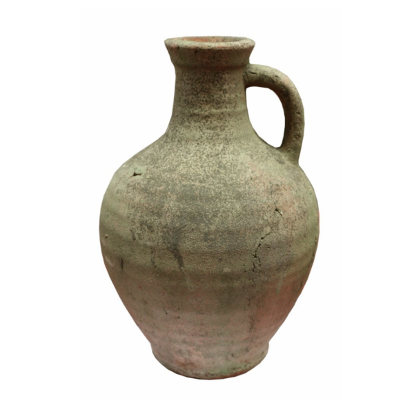 HANDMADE ORGANIC TERRACOTTA PITCHER WITH MOSSY FINISH 31.5CM H