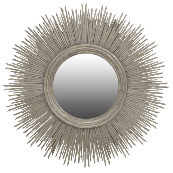 Sunstruck round mirror silver