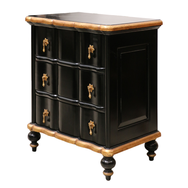 Ripple Bedside Black & Gold