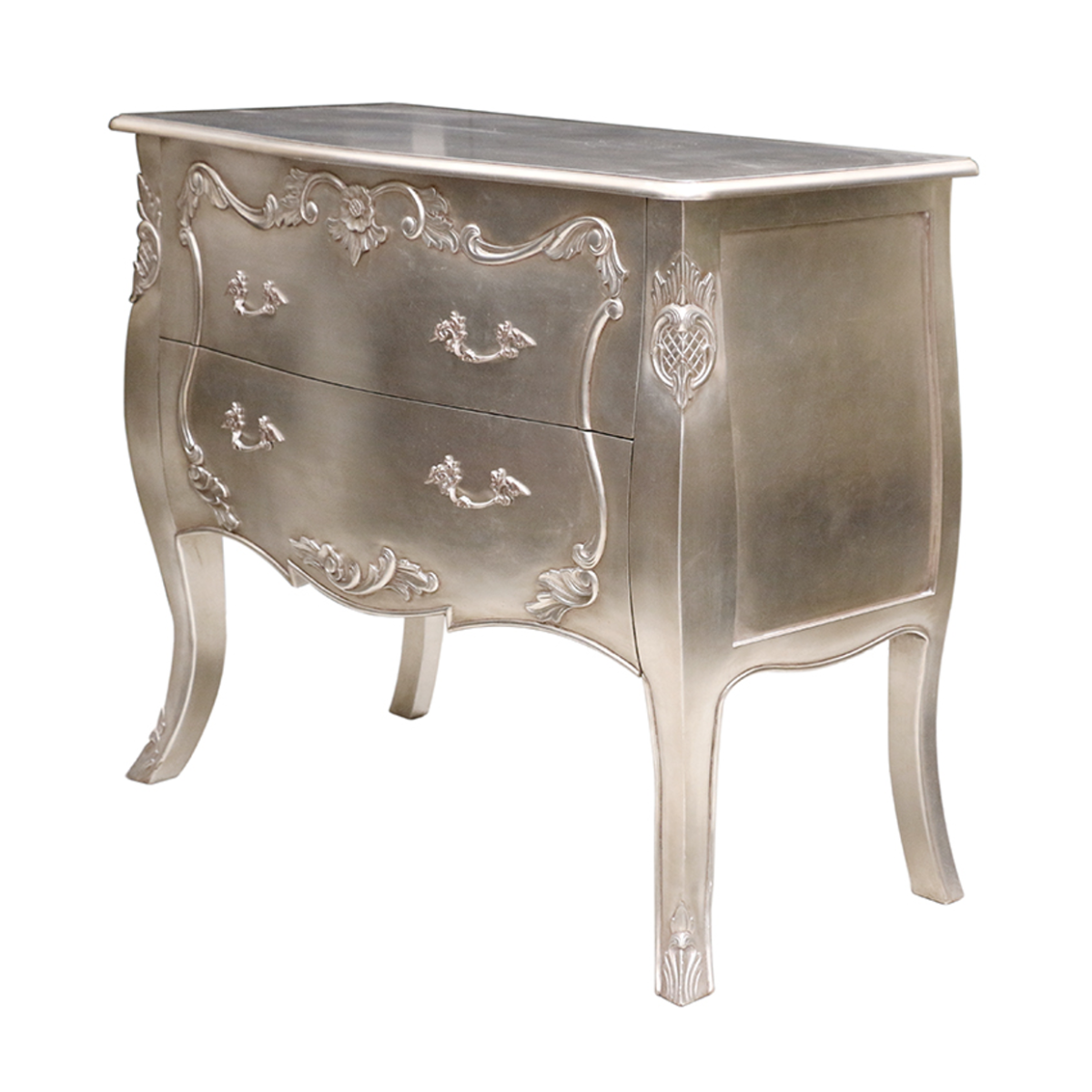 Silver Leaf Chest of Drawers