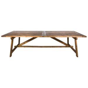 Vintage elm dining table