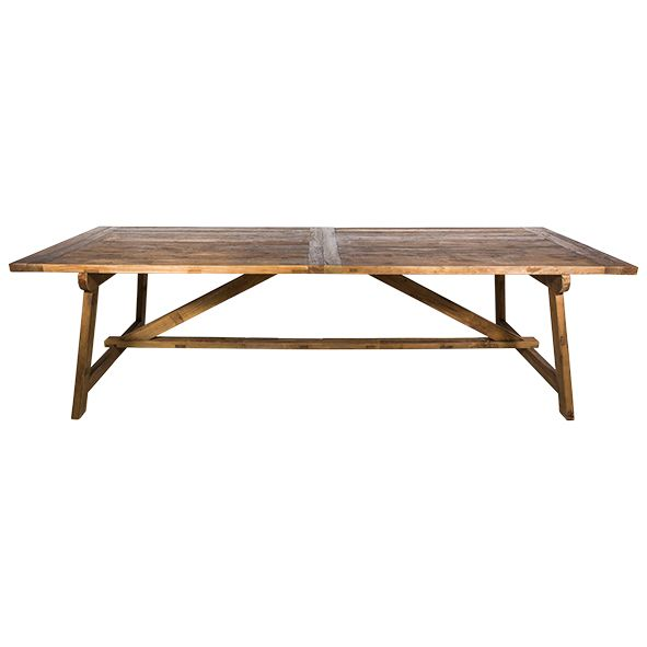 Vintage elm dining table