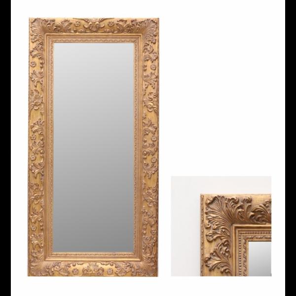 Gold Retangular Mirror