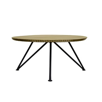 Keya Antique Brass Coffee Table - Round