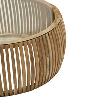 Crusoe Coffee Table Slatted