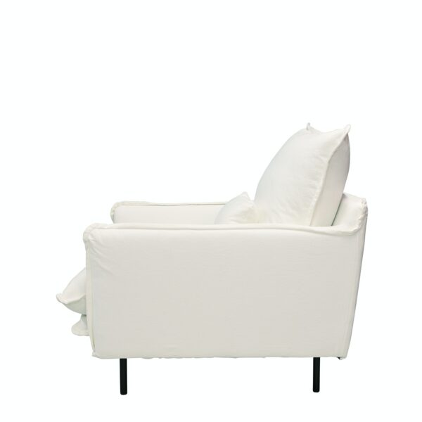 LOUIS Chair w:Lumbar Cushion White