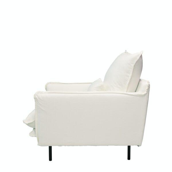LOUIS Chair w:Lumbar Cushion White