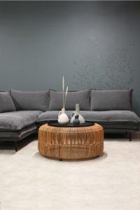 LOUIS Modular Sofa Left Charcoal