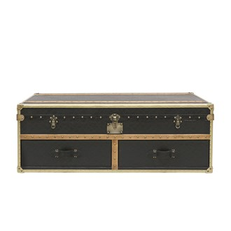 Voyager Trunk Coffee Table Aged Black