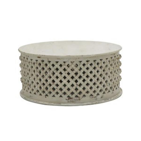 Bamileke Coffee Table - White Wash