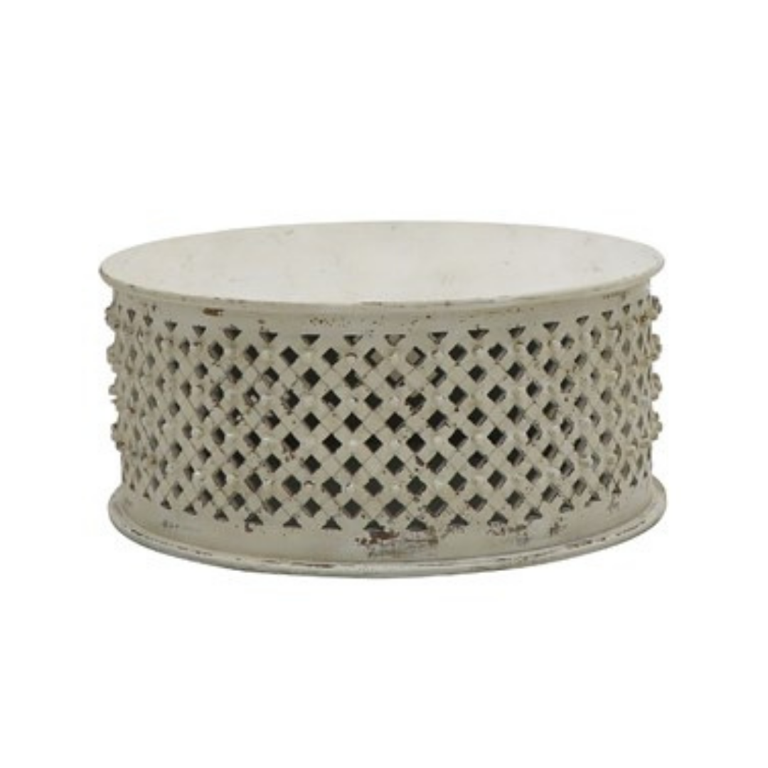 Bamileke Coffee Table - White Wash