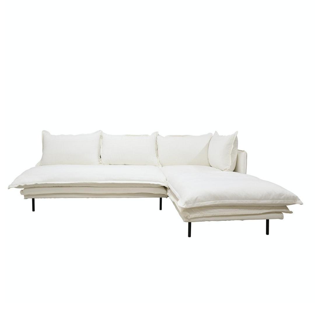 LOUIS Modular Sofa Right White