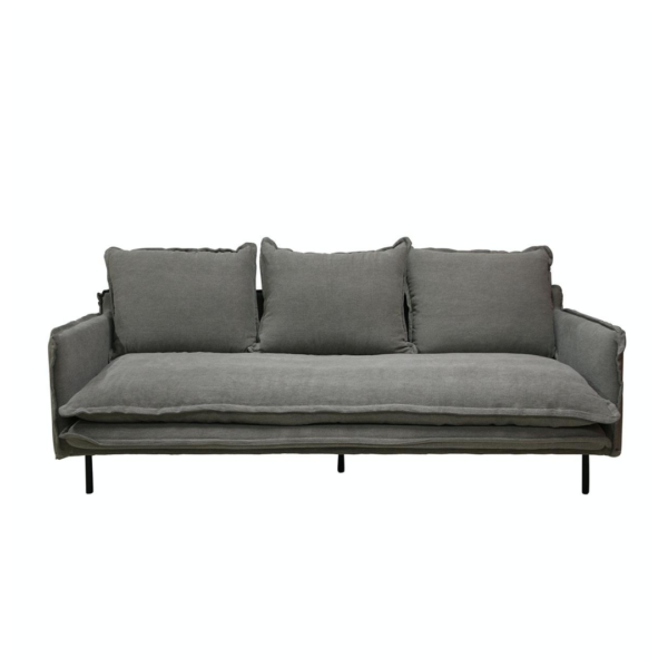 LOUIS Sofa 3-Seater w:3 Cushions Grey