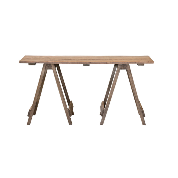 Trestle Desk with Natural Finish 1500L X 500D X 750