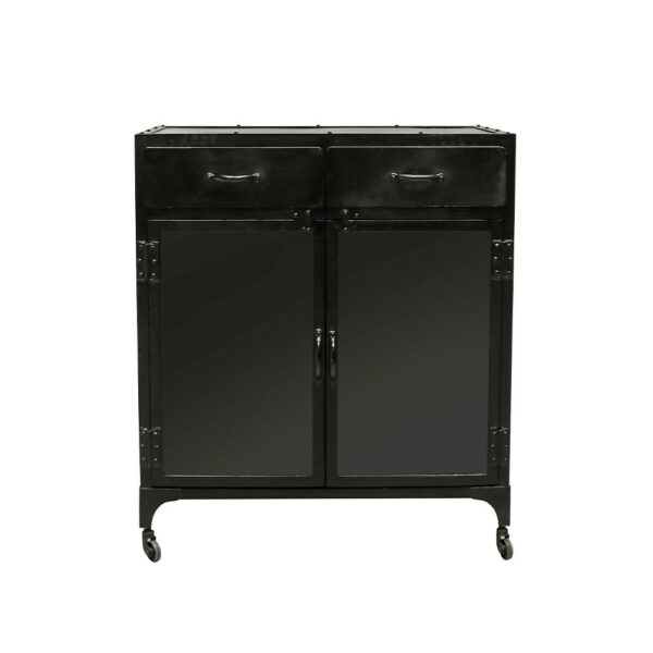 Bank Iron 2 Drawer Display Cabinet