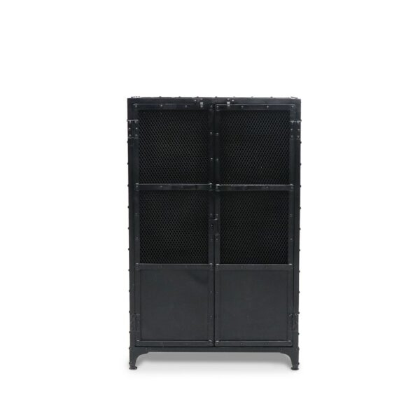 Bank Iron Cabinet - Mesh Doors