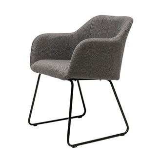 Folio Fabric Dining Chair - Charcoal
