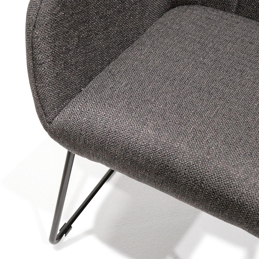 Folio Fabric Dining Chair - Charcoal