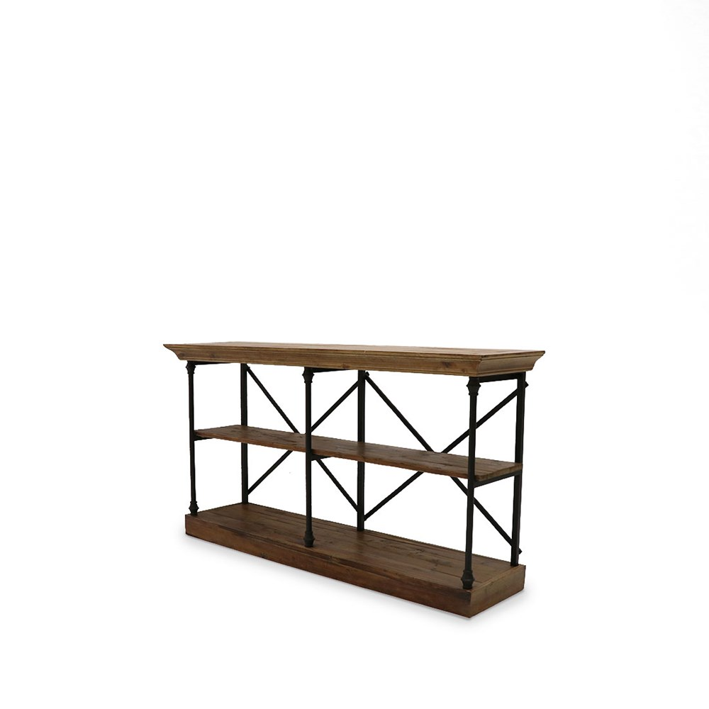 Provincial Iron & wood console