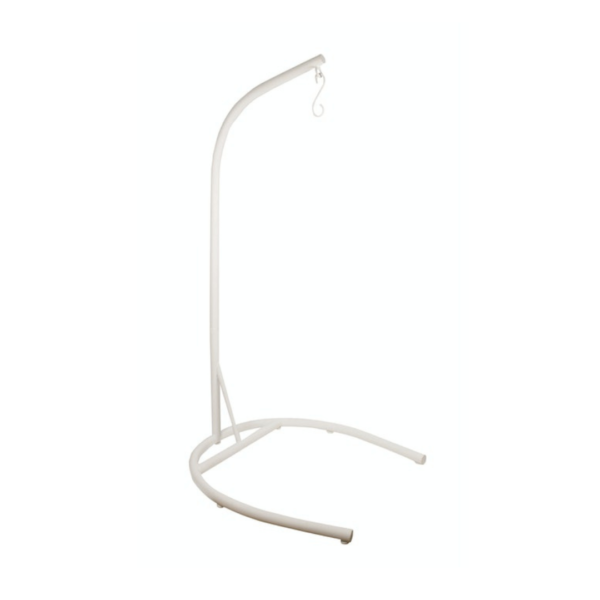 U Shaped Pod Chair Stand White