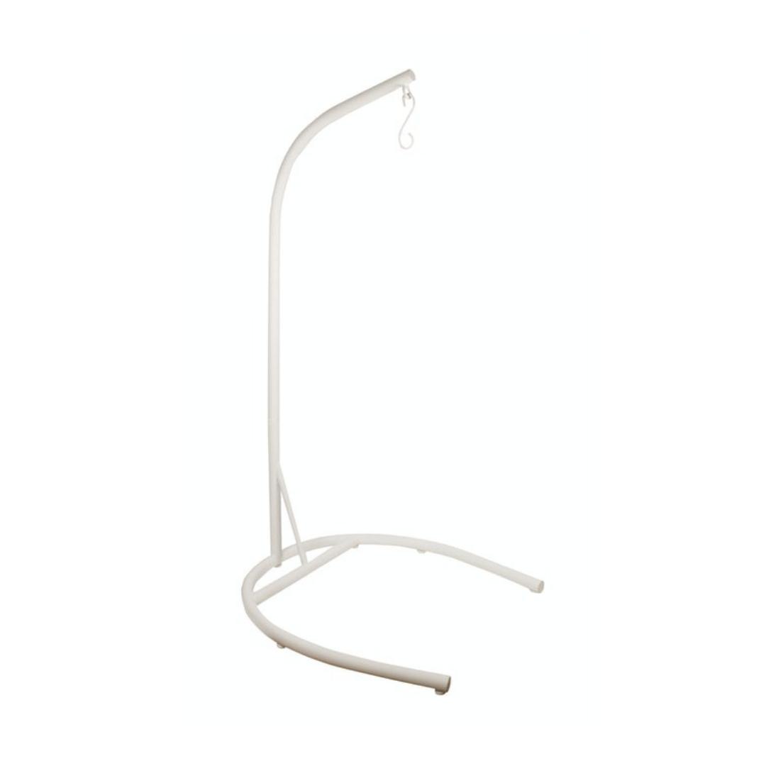 U Shaped Pod Chair Stand White