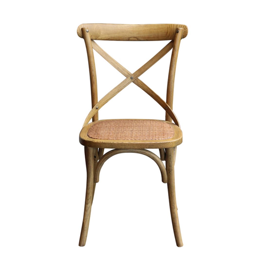 WOODEN BACK DINING CHAIR