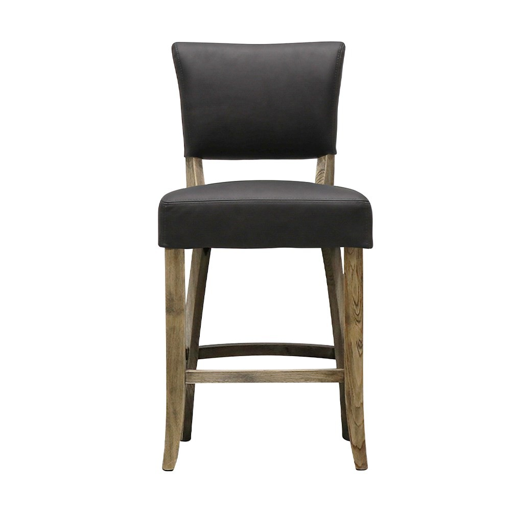 CRANE BARSTOOL LEATHER - BLACK 2