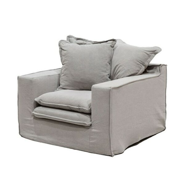Keely slipcover Arm Chair cement