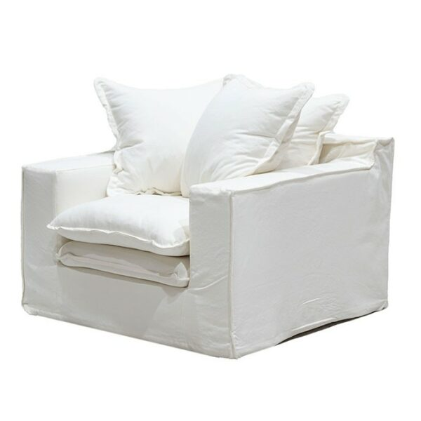 Keely slipcover Arm Chair White