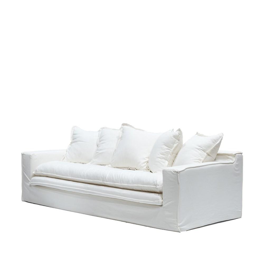 KEELY SLIPCOVER SOFA - WHITE