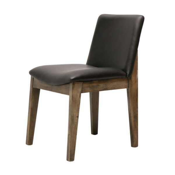 CLIFTON DINING CHAIR BLACK LEATHER