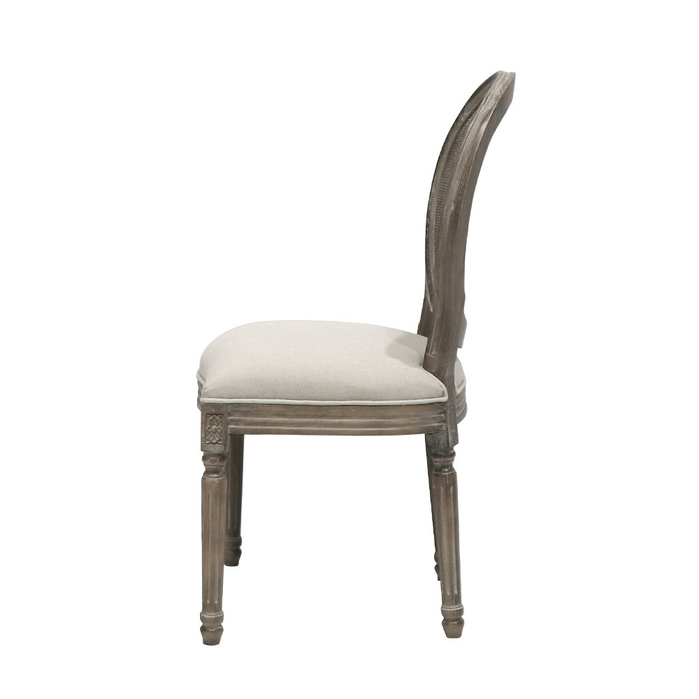 LOUIS DINING CHAIR - ROUND RATTAN BACK