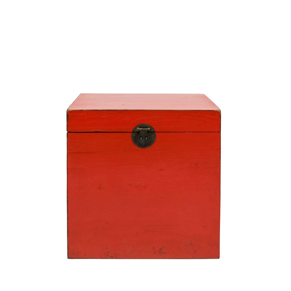 PAINTED PINE TRUNK BOX