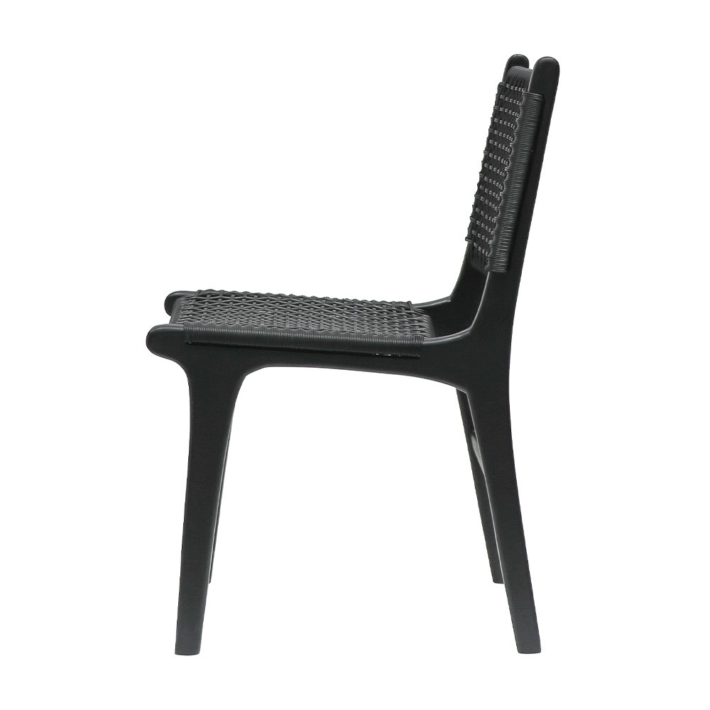 Black Outdoor Dining Chair