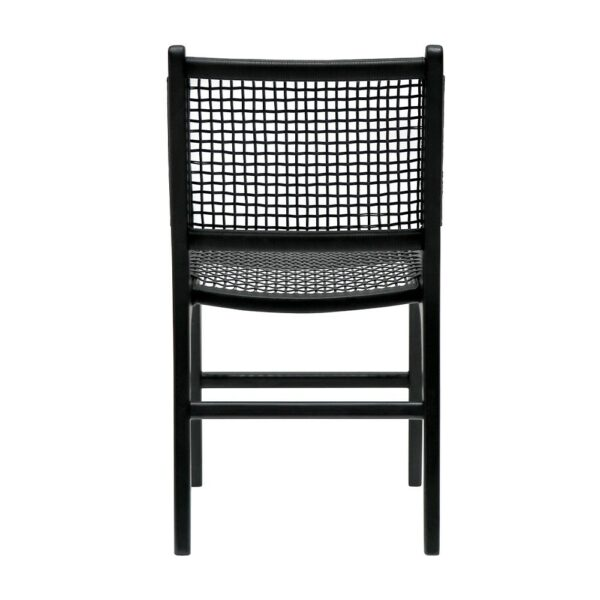 HAYES OUTDOOR DINING CHAIR - BLACK
