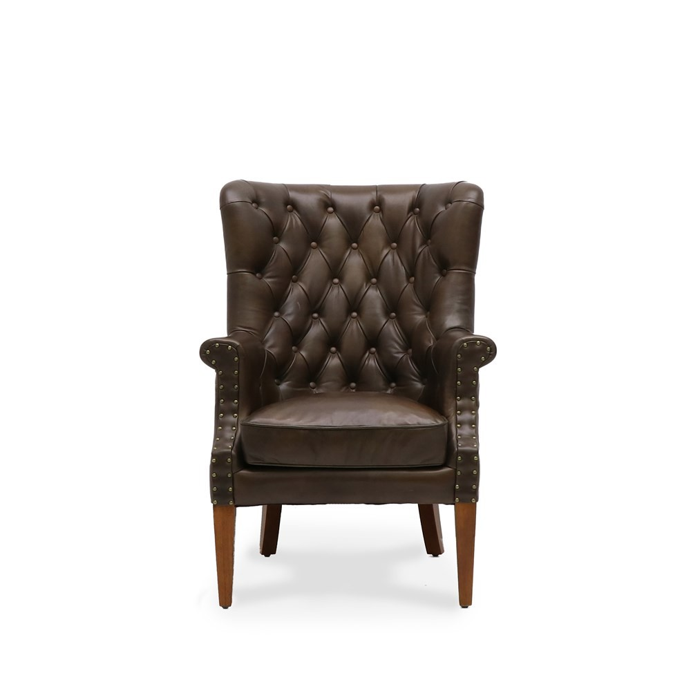 ASHER ARMCHAIR - BROWN LEATHER2