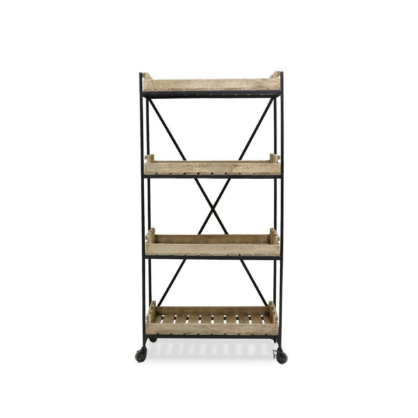 CHANDRI INDUSTRIAL METAL BOOKSHELF