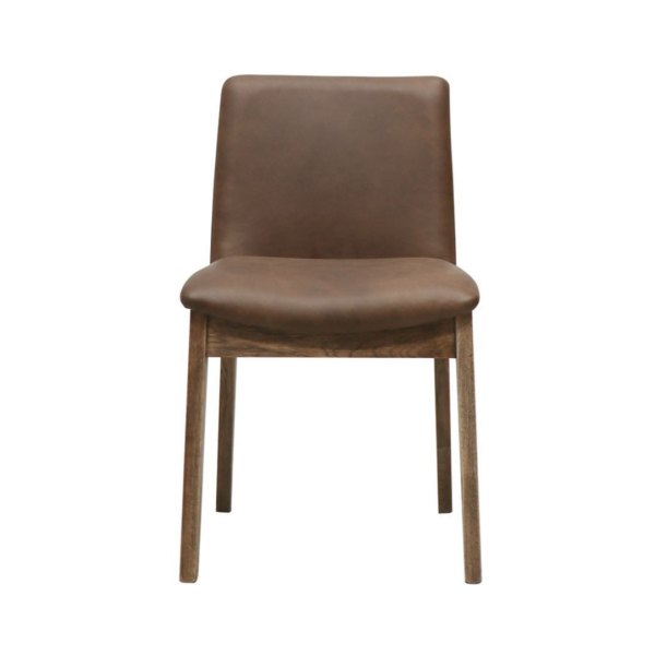 CLIFTON DINING CHAIR BROWN LEATHER