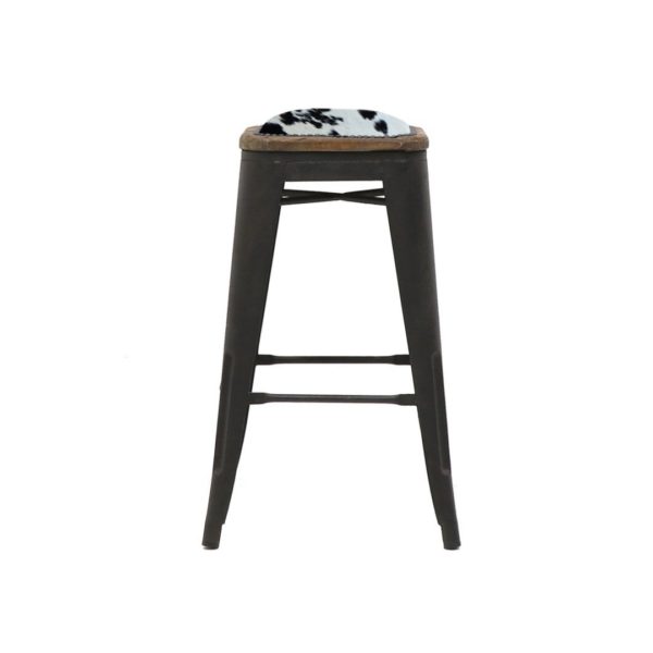 COLONIAL STOOL, 65CM COWHIDE SEAT 2