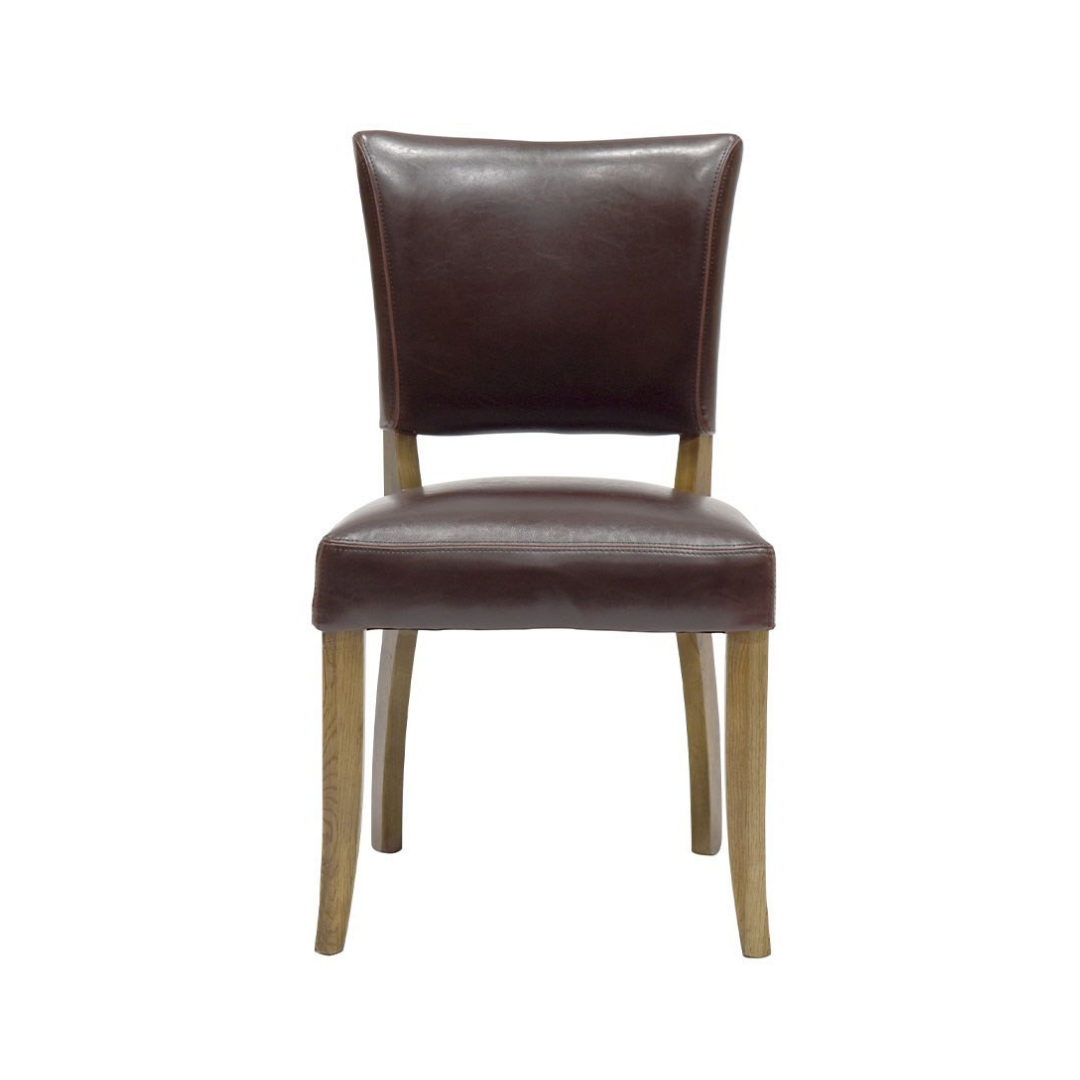 CRANE DINING CHAIR PU LEATHER BROWN