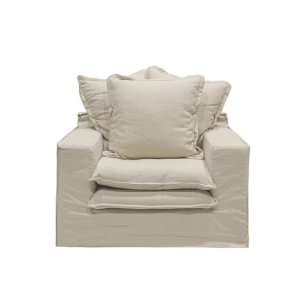 Keely slipcover Arm Chair Oatmeal