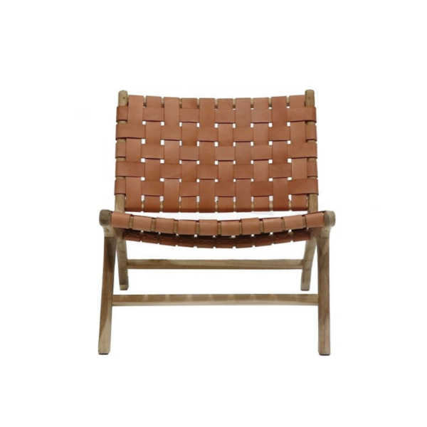 HAYES LOW CHAIR - TAN Leather