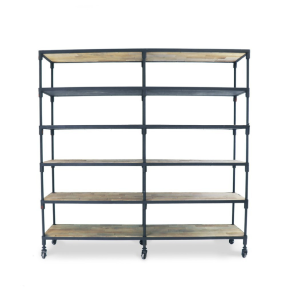 INDUSTRIAL METAL BOOKSHELF