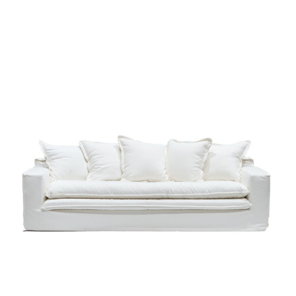 KEELY SLIPCOVER SOFA - WHITE