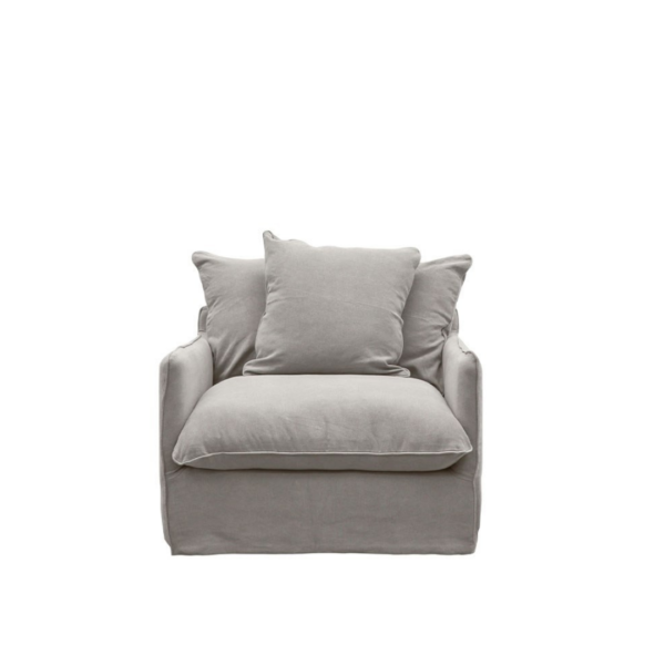 LOTUS SLIPCOVER ARMCHAIR - CEMENT